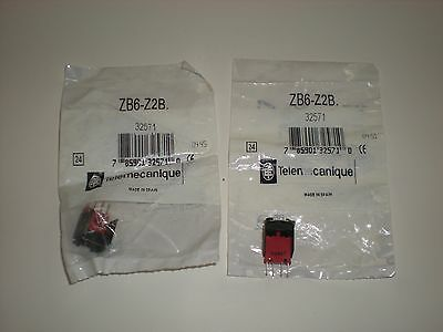 (Lot Of 2) Telemecanique Zb6-Z2B Zb6Z2B Zb6-Y009 Contact Block New