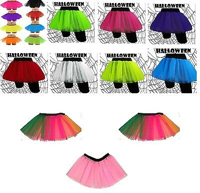 Ladies 80s dress up Tutu Skirt Fancy Dress Fishnet Three Layer Tutu Skirts
