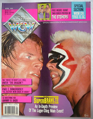 Wcw Magazine April 1992 / Issue #6 / Doublesided The Steiners Poster