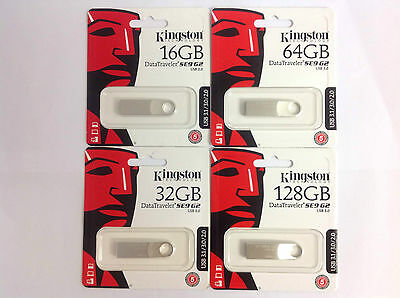 PENDRIVE KINGSTON DT SE9 G2 PLATA 8/16/32/64/128GB / USB3.0 / LECTURA 100MB/s
