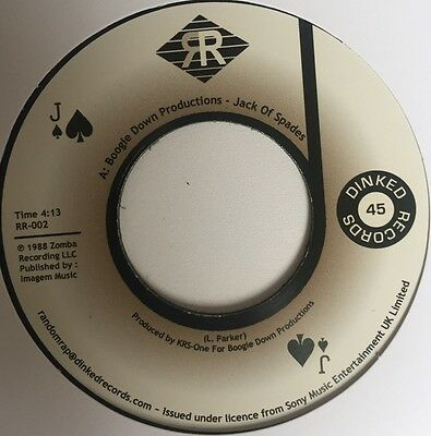 """Boogie Down Productions """" Jack Of Spades """" Uk 7"""" B.d.p. Krs One"""