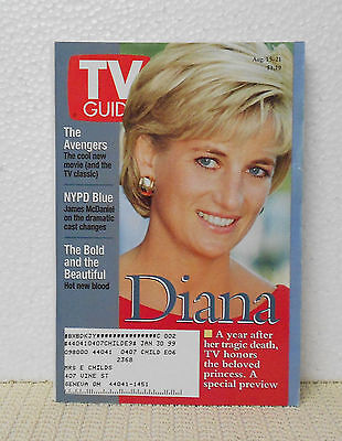 TV Guide August 15-21-1998 Princess Diana CLEVELAND OH. EDITION