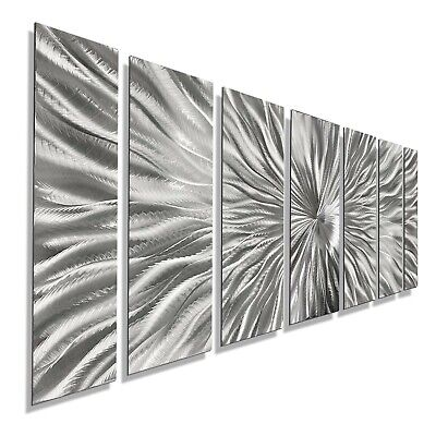 Statements2000 Silver Abstract 3D Metal Wall Art by Jon Allen Radiant Velocity