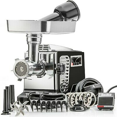 Electric Meat Grinder - STX Turboforce II 4000 & Sausage Stuffer with Foot Pedal