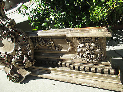 19th Antique Architectural Italian Carved/painted Wood Frieze carnize 37x82 #2