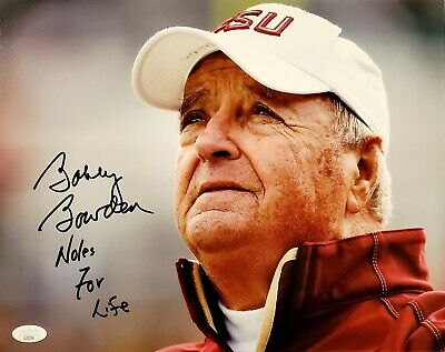 Bobby Bowden Signed Auto FSU Florida State 11x14 Photo w/Noles For Life - Proof