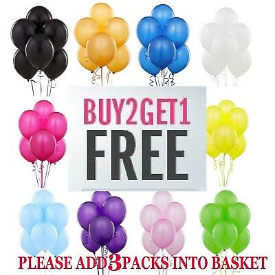 20 X Latex PLAIN BALOONS BALLONS helium BALLOONS Quality RIBBONS Party Birthday