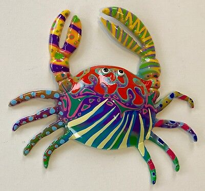 Crab Fish Art Beach Ocean Sea Theme Home Decor Wall Art Scupture  Colourful