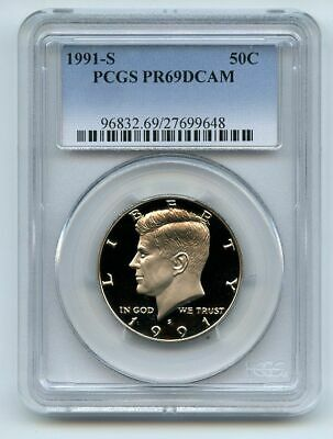 1991 S 50C Kennedy Half Dollar Proof PCGS PR69DCAM