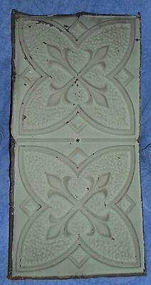 "2 Sage Green Dual Ceiling Tiles 12 X 24 3/4"" Removed From Ceiling"