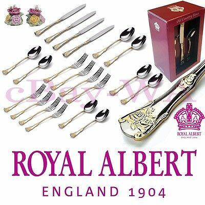 Royal Albert Old Country Roses 20 pce Cutlery set + Salt & Pepper Mother's Day