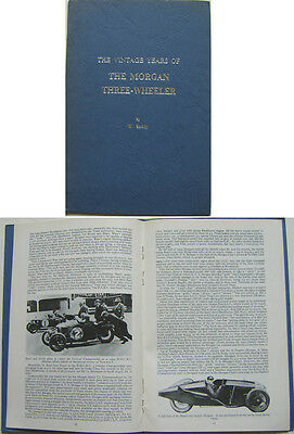 Morgan Three Wheeler The Vintage Years of by W Boddy - Road, Racing & Trial Cars