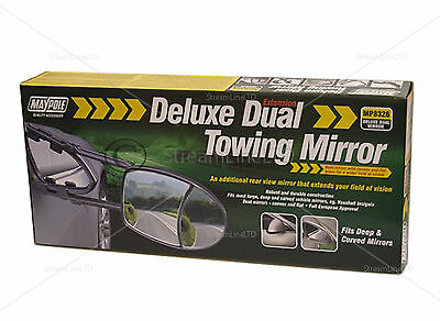 Dual Glass Towing Mirror Extension Mirrors Car Travel Extenders Van Part MP8326