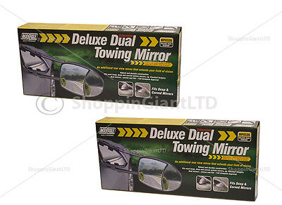 2x Dual Glass Towing Mirror Extension Mirrors Car Travel Extenders Van MP8326