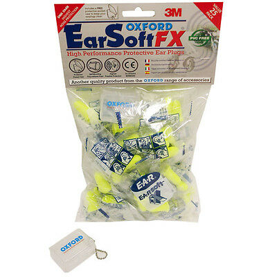 Oxford Motorcycle Ear Plugs Earsoft Fx High Performance Protection 25 Pack
