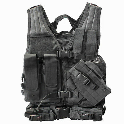 NcStar Vism Youth Tactical Crossdraw Vest Black New Airsoft Vest