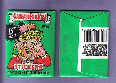1988 Garbage Pail Kids Original Series 15 Wax Pack (x1) from Box!