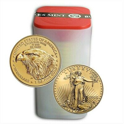 Lot of 20 - 2019 1 oz Gold American Eagle $50 Coins Brilliant Uncirculated