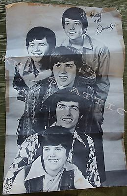 "Vintage 11""x17"" Donny Osmond & The Osmonds Poster  *RARE*"