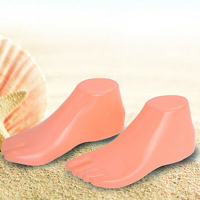 1 Pair Hard Plastic Adult Feet Mannequin Foot Model Form Tools for Shoes Display