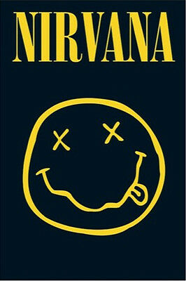 Nirvana Smiley Face POSTER (61x91cm) Kurt Cobain Picture Print New Art