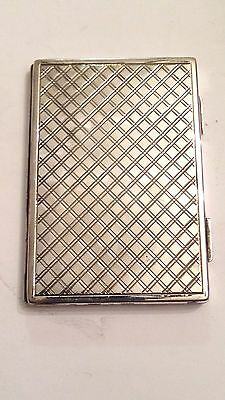 Vintage Sterling Silver Card Case, 82.5 Grams