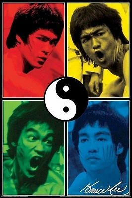 (LAMINATED) Bruce Lee Colours Martial Arts Movie POSTER (61x91cm) Picture Print
