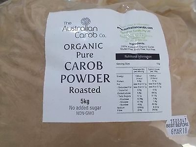 The Australian Carob Organic Carob Powder Roasted 5Kg