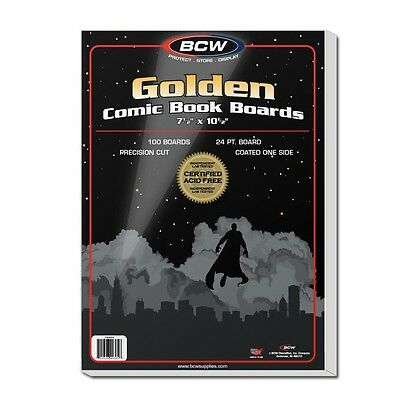 Golden Comic Backing Boards x 100 pack