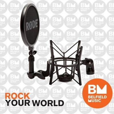 Rode SM6 Professional Microphone Shock Mount Mic w/ Integrated Pop Shield Filter