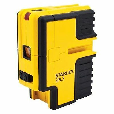 STANLEY 3 Beam Horizontal/Vertical Self-Leveling Laser Level! Layout Dot Spot