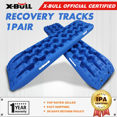 X-BULL Recovery tracks 10T Sand Mud Snow Grass 4WD 4x4 Offroad Blue 1Pair