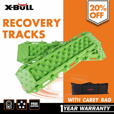 Pair Recovery Tracks Set Sand Mud Snow Grass 4WD 4x4 ATV Tyre Accessory Offroad