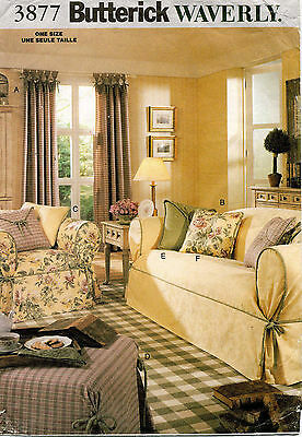 Butterick Drapes, Slipcovers and Pillows Pattern 3877