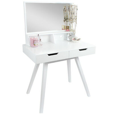 Hartleys White Dressing Table Makeup/jewellery Storage Dresser & Vanity Mirror