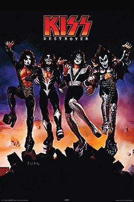 KISS BAND MUSIC POSTER (91x61cm) DESTROYER ALBUM COVER NEW LICENSED ART