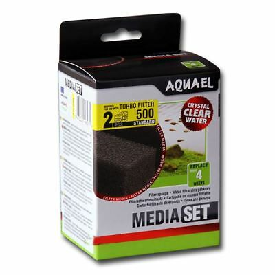Aquael Filter Sponge Replacement for Turbo Filter 500 (x2) *GENUINE*