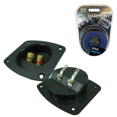 Car Audio Accessory Subwoofer Box Enclosure Wire Plastic Terminal Cup Amp Kit
