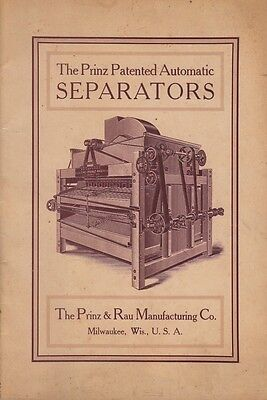 Prinz & Rau Manufacturing Co Milwaukee WI 1907 Booklet Automatic Separators