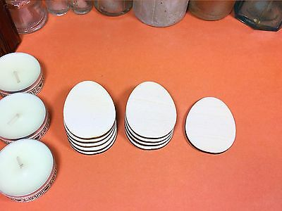WOODEN EGG (FLAT) Shapes 5cm (x10) wood easter cutouts craft shape blanks