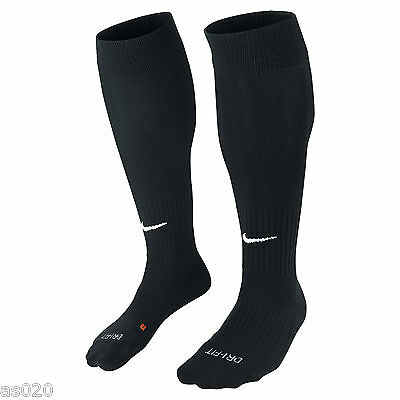 NEW Nike Classic II Mens Adults Dri-FIT Football Soccer Sports Socks  - Black