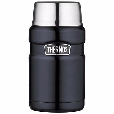 NEW Thermos Stainless Steel King Food Jar Blue 24 Oz. SK3020MBTRI4