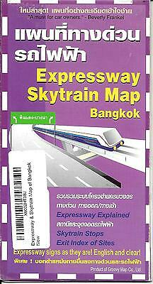Expressway Skytrain Map of Bangkok, Thailand, by Groovy Map