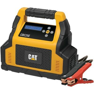 NEW Cat Cbc25e 25-amp Battery Charger With 7-amp Engine Start