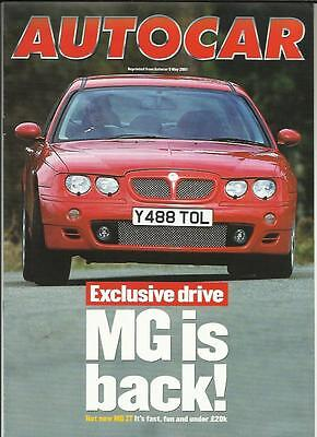 Mg Zt 190 Official Road Test Reprint 'sales Brochure' (+ Zs Article) May 2001