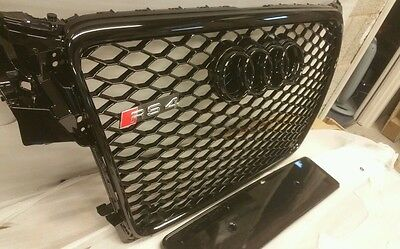 AUDI RS4 GRILL A4 TO RS4 S4 B8 SE S LINE BLACK TRIM, grille grill