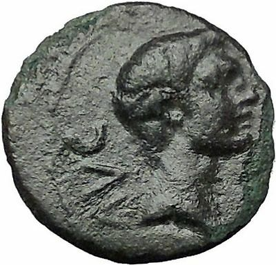 AUGUSTUS 27BC Philippi Macedonia Colonists Founding City Oxen Roman Coin i54440
