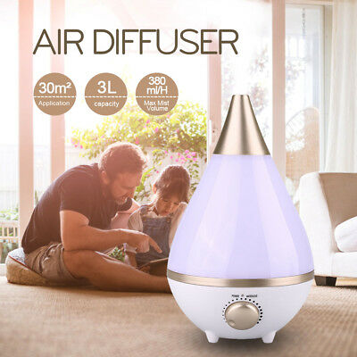Essential Oil Ultrasonic Humidifier Aroma Air Aromatherapy Diffuser Purifier AU