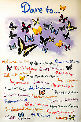 DARE TO…. BELIEVE IN YOUR DREAMS POSTER (91x61cm) BUTTERFLY NEW LICENSED ART