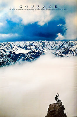 COURAGE - MOUNTAIN CLIMBING MOTIVATIONAL POSTER (91x61cm)  NEW LICENSED ART